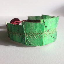 Simple Cuff Bracelet - 8 inch Emerald Green