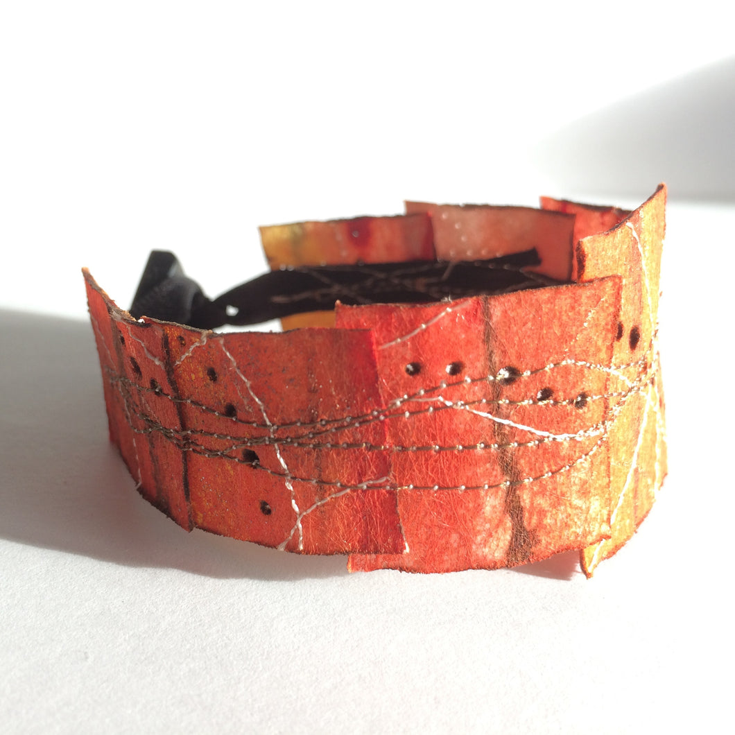 Simple Cuff Bracelet - 7.5 inch Burnt Orange