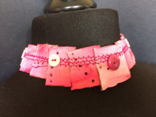 Pink Choker embellished with buttons