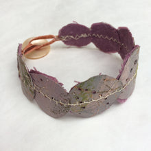 Muted Pink/Mauve round cuff bracelet (medium)