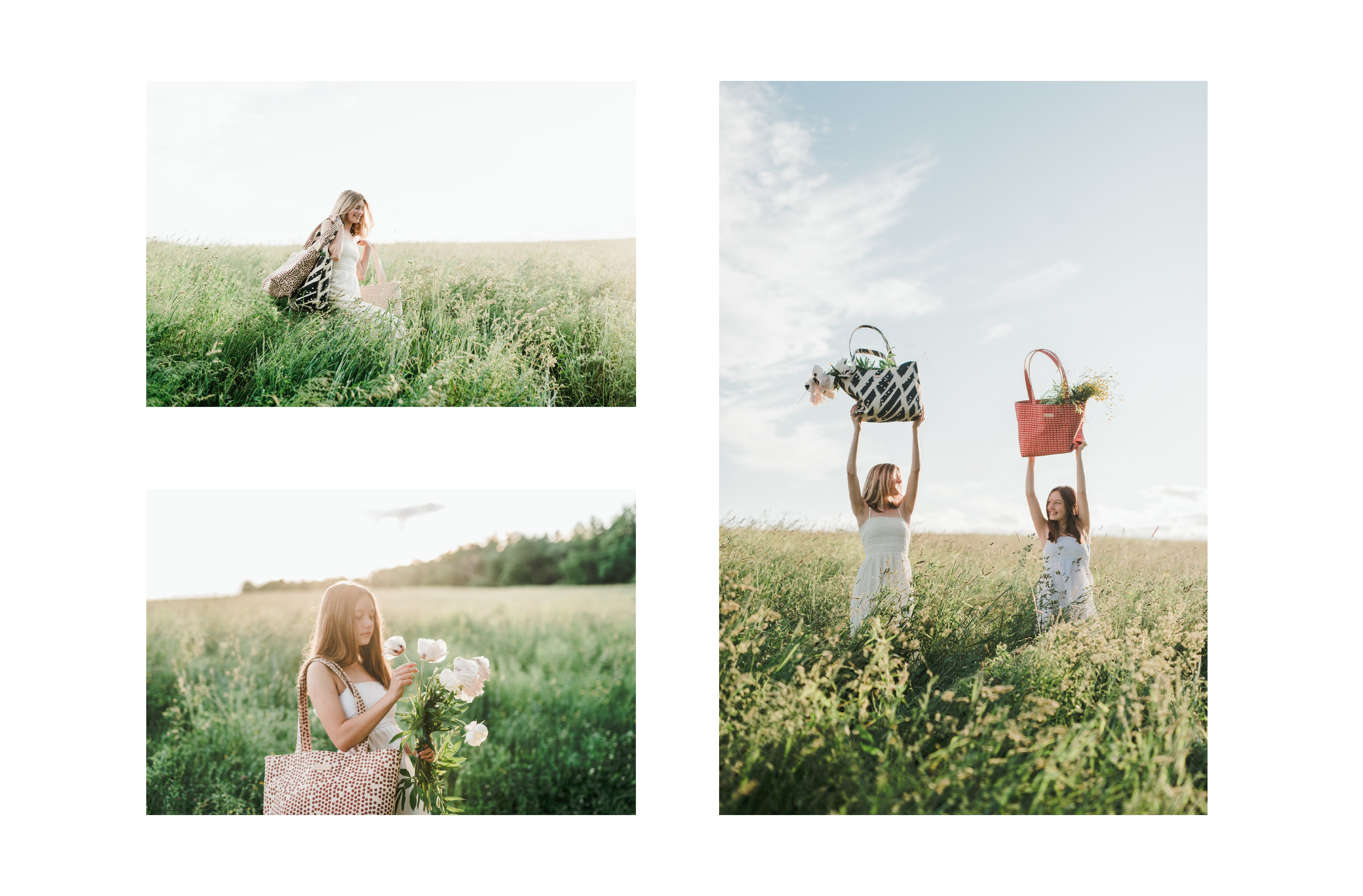 coated canvas totes