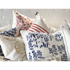 NAVY RAIN PILLOW COVER