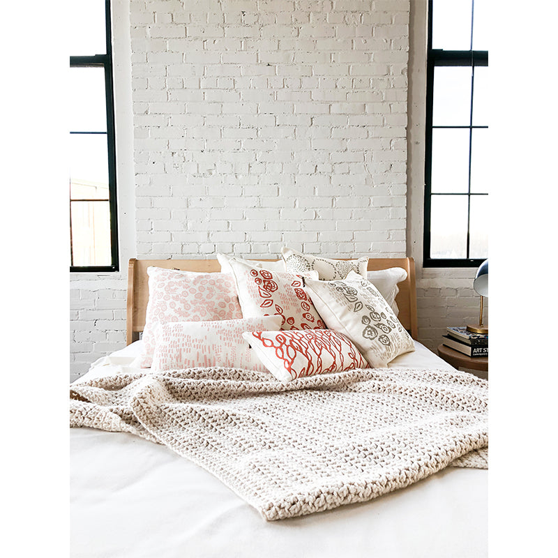BLUSH WALLFLOWER PILLOW