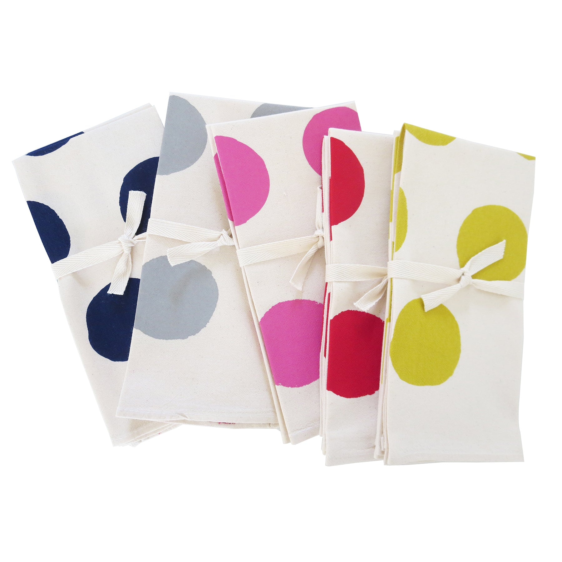 BIG DOTS COTTON NAPKINS. SET OF 2.