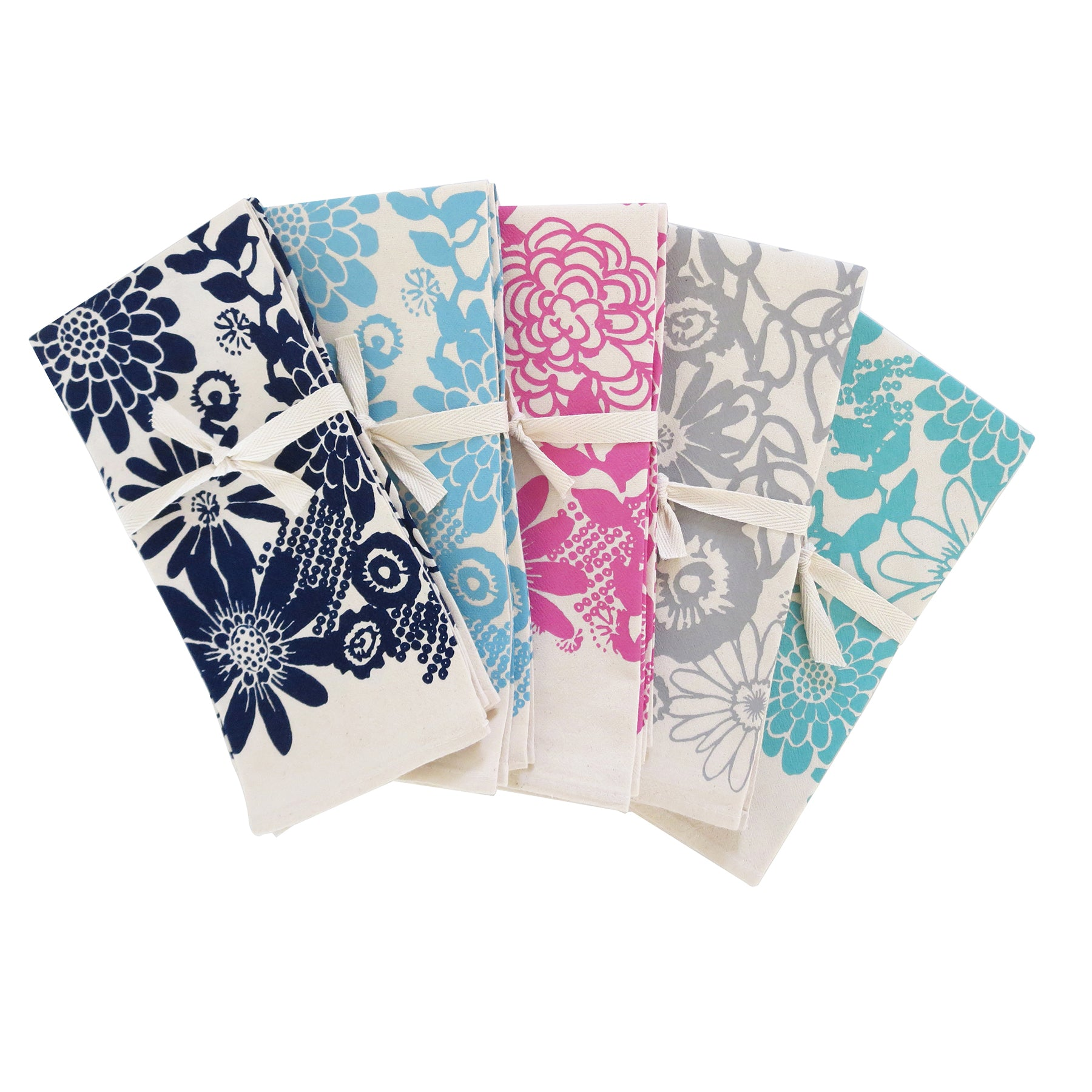 WILD GARDEN COTTON NAPKINS. SET OF 2.