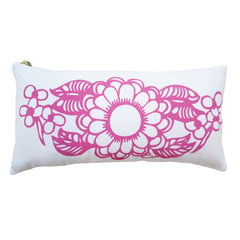 HOT PINK DAHLIA LUMBAR PILLOW