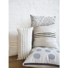 OATMEAL 3 LINE BAND LINEN PILLOW