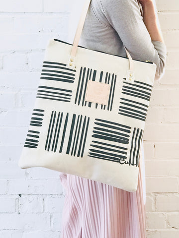 WORN BLACK BRUSH MOD TOTE
