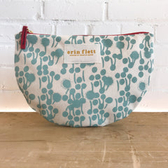 ROBINS EGG BLUE BERRIES HALF MOON BAG