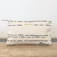 WORN BLACK RIVER CLUTCH ZIPPER BAG