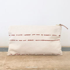 CLAY RIVER CLUTCH ZIPPER BAG