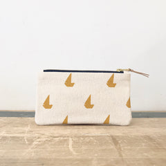 YOLK SAILBOATS CARD WALLET ZIPPER BAG