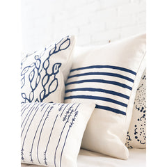 NAVY 6 LINE PILLOW