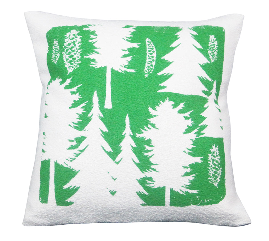 ASHLEY PINE PILLOW COVER IN KELLY