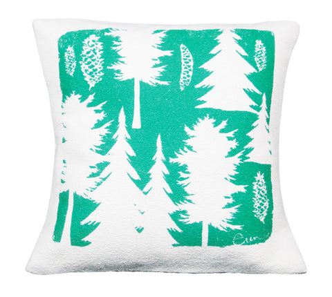 TURQUOISE ASHLEY PINE PILLOW
