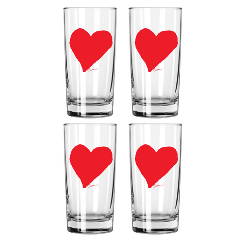 HEART DRINKING GLASS SET