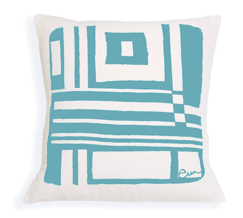 SEA BLUE BOLD GEO PILLOW