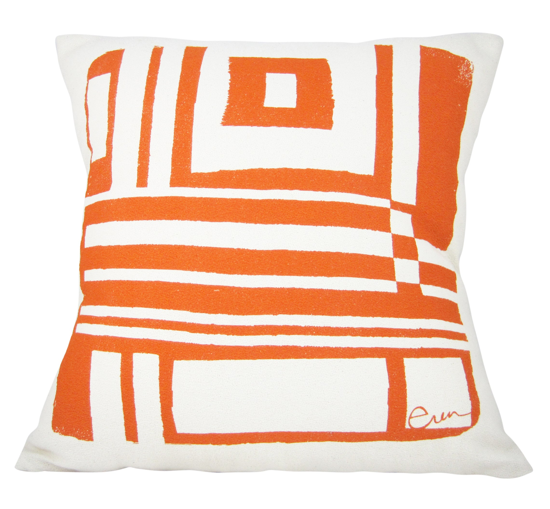 BOLD GEO PILLOW COVER IN MANGO