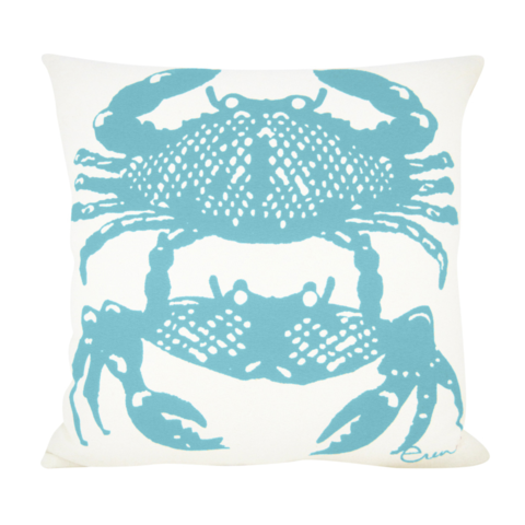 CRABBIES SEA BLUE PILLOW COVER