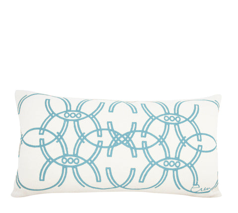 SEA BLUE DECO MIRROR PILLOW