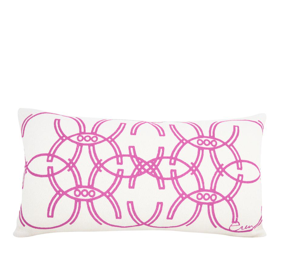 HOT PINK DECO MIRROR PILLOW
