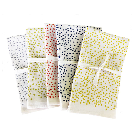 POLKA DOTS COTTON NAPKINS. SET OF 2.