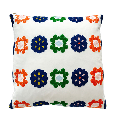 BOHO FULL EMBROIDERY PILLOW COVER