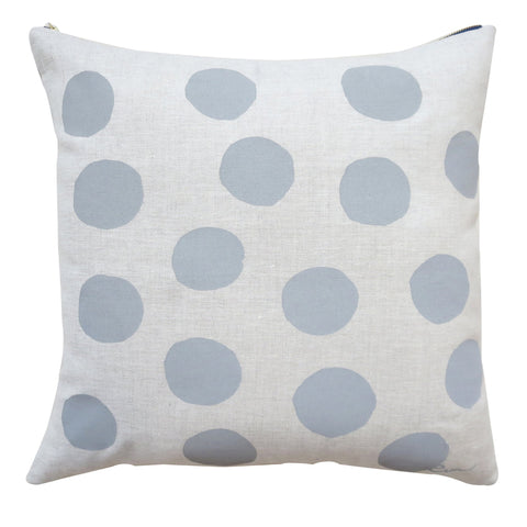 RAINY DAY BIG DOT OATMEAL LINEN PILLOW