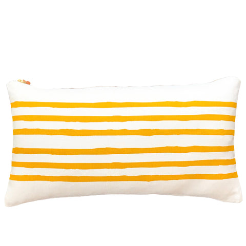 Erin Flett Gold 6 Lines Pillow