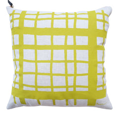GOLDEN ROD PICNIC OATMEAL LINEN PILLOW