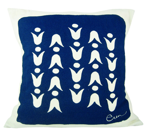 NAVY MOD TULIP PILLOW