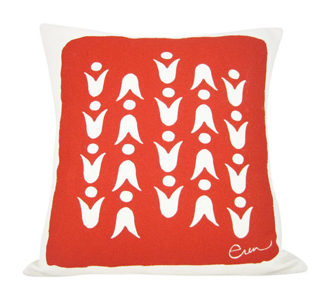 RED MOD TULIP PILLOW