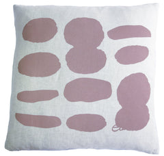 TAUPE BROWN PEAKS LINEN PILLOW