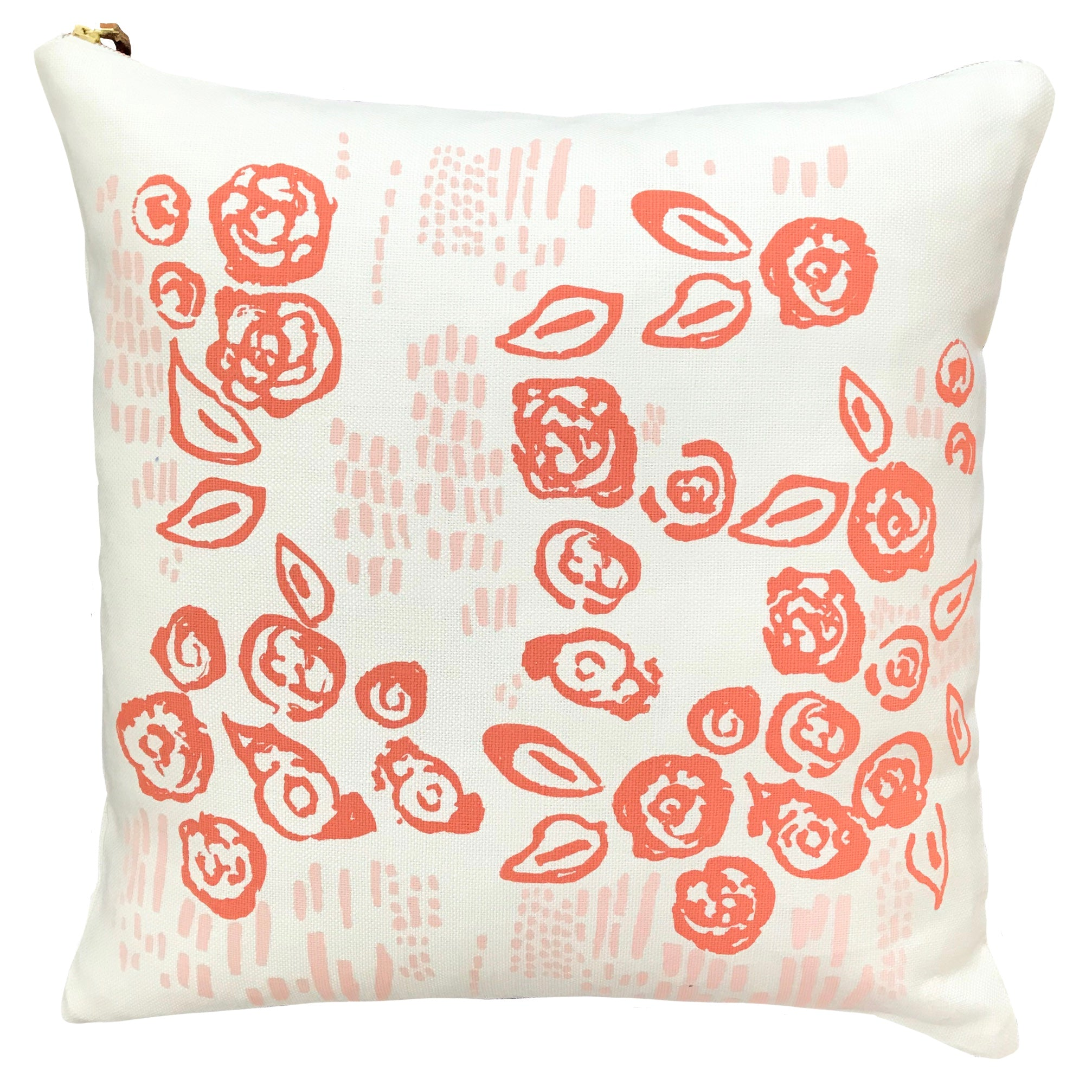 Erin Flett Coral and Blush Vivian Pillow