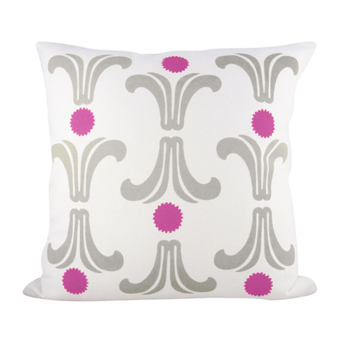 RISING SUN PILLOW COVER IN HOT PINK + RAINY DAY