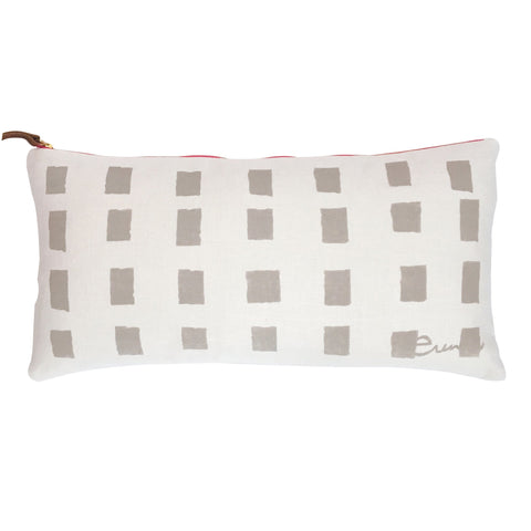 OATMEAL SQUARES OYSTER LINEN PILLOW