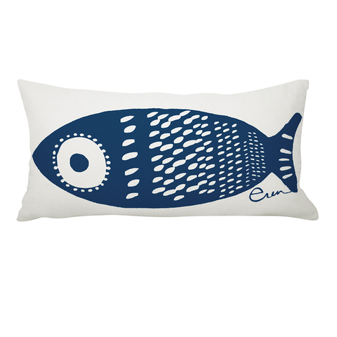 NAVY SINGLE TUNA LUMBAR PILLOW