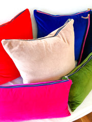 TOMATO COTTON VELVET PILLOW