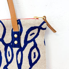 NAVY PODS OATMEAL HEAVY LINEN MOD TOTE