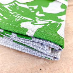 EVERGREEN DEEP WOODS OATMEAL LINEN NAPKINS