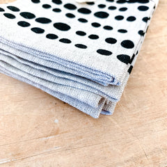 WORN BLACK HILARY OATMEAL LINEN NAPKINS