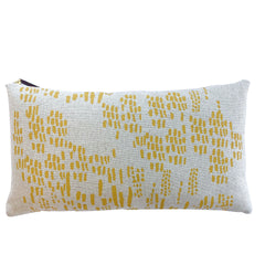 GOLD RAIN HEAVY OATMEAL LINEN PILLOW