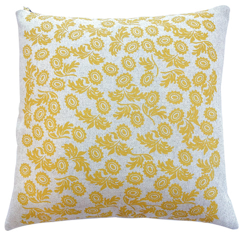 GOLD WALLFLOWER HEAVY OATMEAL LINEN PILLOW
