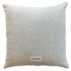 NAVY DEEP WOODS PILLOW ON HEAVY OATMEAL LINEN