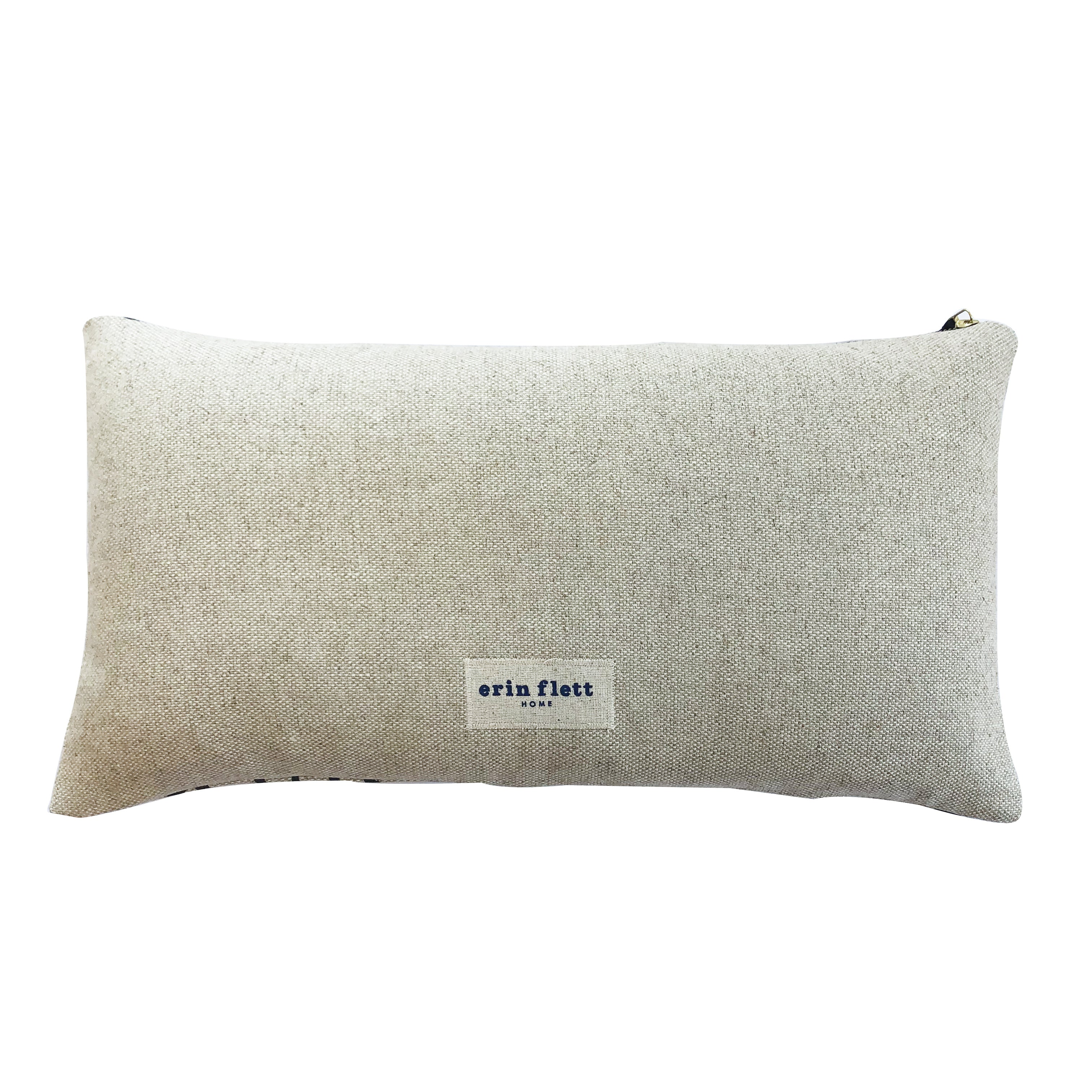 WORN BLACK TWIGS HEAVY OATMEAL LINEN PILLOW