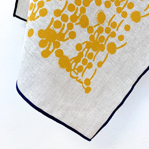 GOLD BERRIES OATMEAL LINEN TEA TOWEL