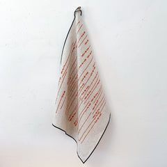 TOMATO TWIGS OATMEAL LINEN TEA TOWEL