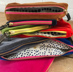 SIENNA VELVET ZIPPER BAG