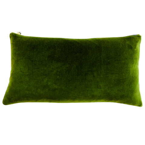 EVERGREEN COTTON VELVET PILLOW