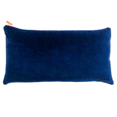 NAVY COTTON VELVET PILLOW